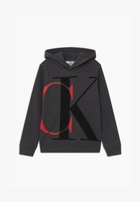 Calvin Klein Jeans - EXPLODED MONOGRAM HOODIE UNISEX - Mikina s kapucí - grey - 0