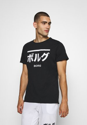 CENTRE RELAXED TEE - Print T-shirt - black beauty
