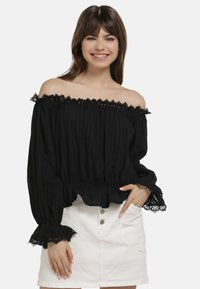 myMo - BLUSE - Blouse - black - 0