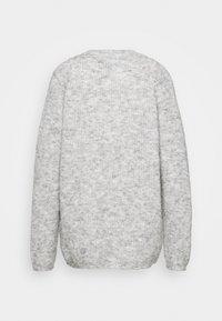 Vero Moda Tall - VMDAISY BUTTON CARDIGAN - Cardigan - light grey melange - 1