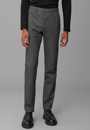 Chinos - multi/gray pinstripe