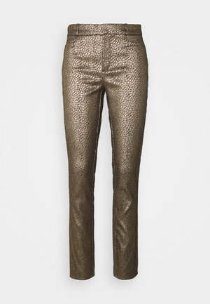 SLOAN MODERN DOT - Trousers - gold