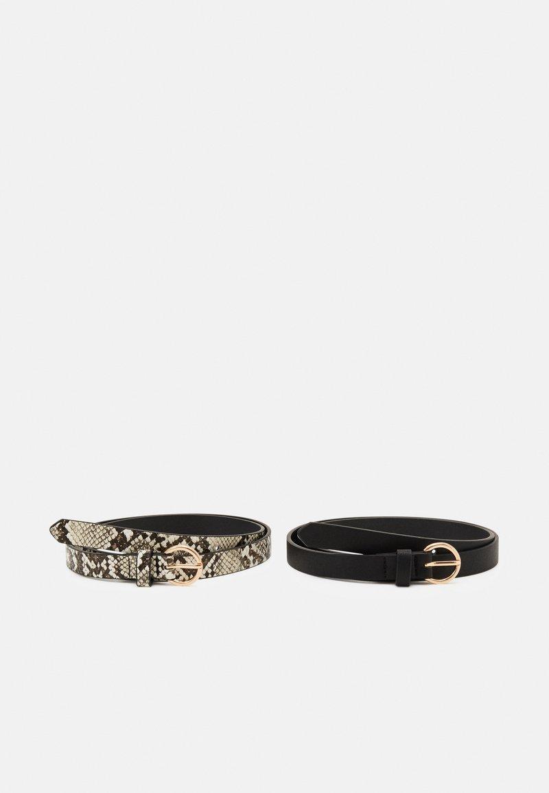Even&Odd - 2 PACK - Belt - black/beige
