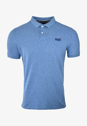 Polo shirt - bright blue grit