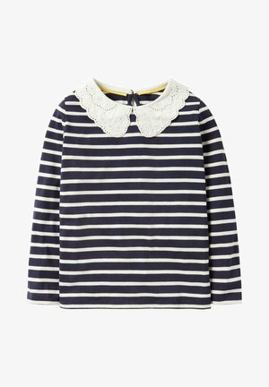 Mini Me mit Lochstickerei am Kragen - Long sleeved top - french navy/ ivory