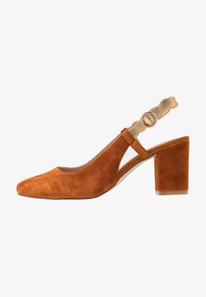 LEATHER CLASSIC HEELS - Avokkaat - light brown
