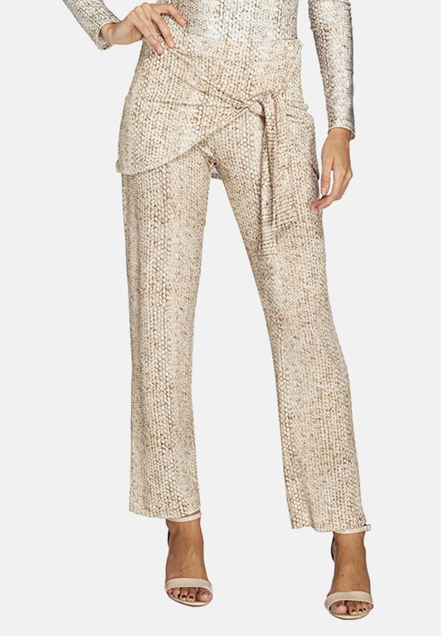 ÁSIA,SKIRTED TROUSERS - Trousers - sand