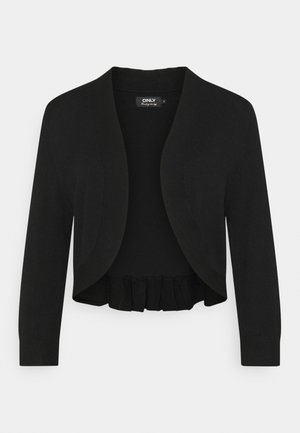 ONLPIPER 3/4 BOLERO - Strickjacke - black