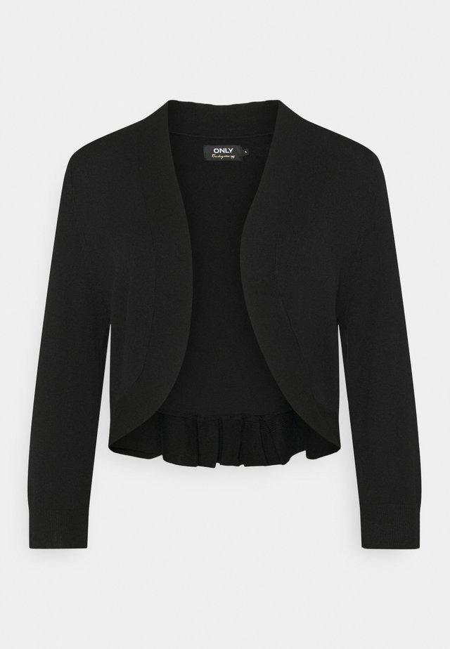 ONLPIPER 3/4 BOLERO - Cardigan - black
