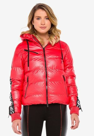 MIT WÄRMENDER KAPUZE - Winter jacket - darkred