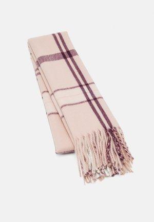 Szal - bordeaux/pink/off white