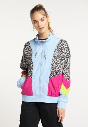 Summer jacket - blau c.block