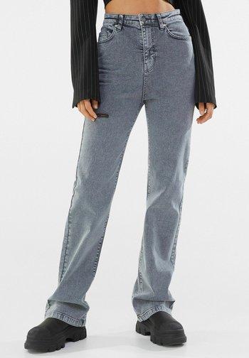 Jeansy Straight Leg - dark grey