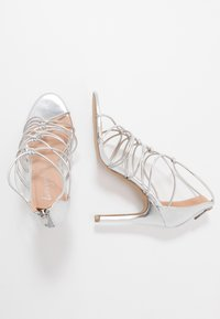 New Look - TOTTY - High heeled sandals - silver - 3
