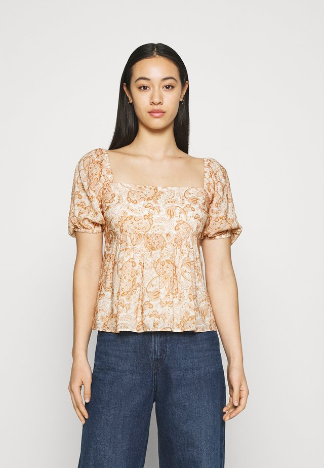 EVIE BABY DOLL SQUARE NECK BLOUSE - T-shirt con stampa - valencia
