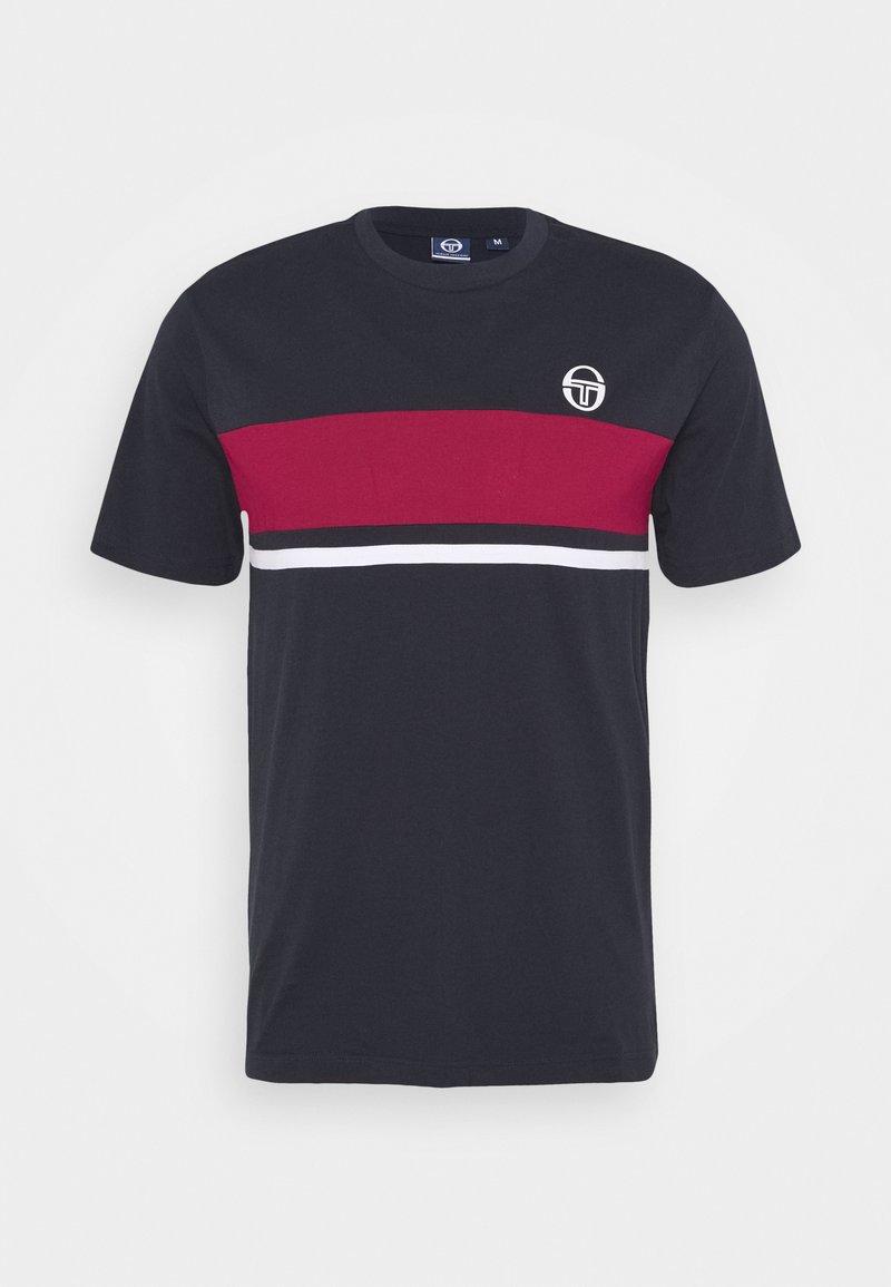 sergio tacchini - FELUGA - Print T-shirt - navy/applered