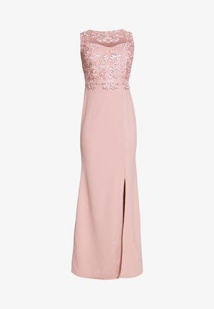LAYERED MAXI DRESS - Společenské šaty - blush