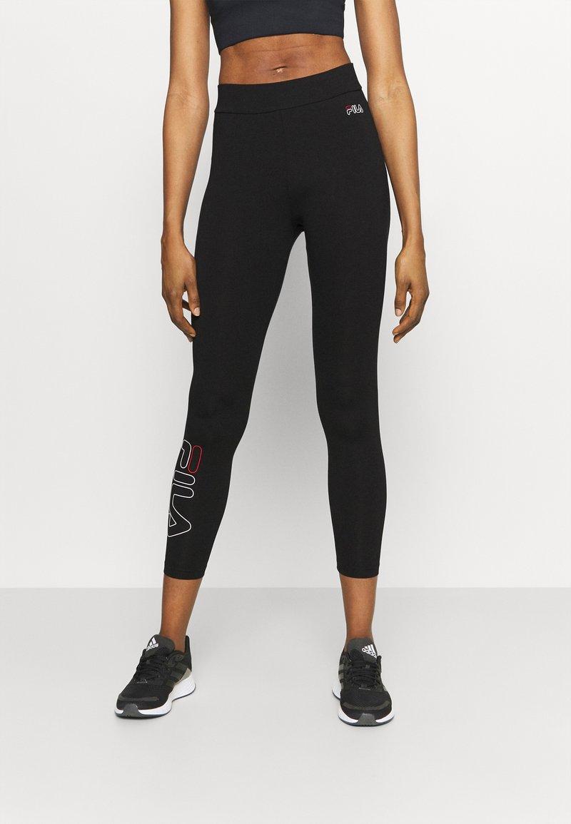 Fila - FELIZE 7/8 LEGGINGS - Leggings - black