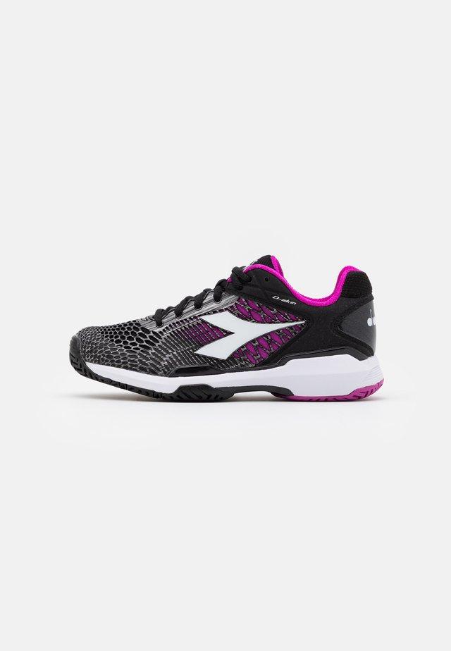 SPEED COMPETITION 5 + - Tennisschoenen voor alle ondergronden - black/white/purple