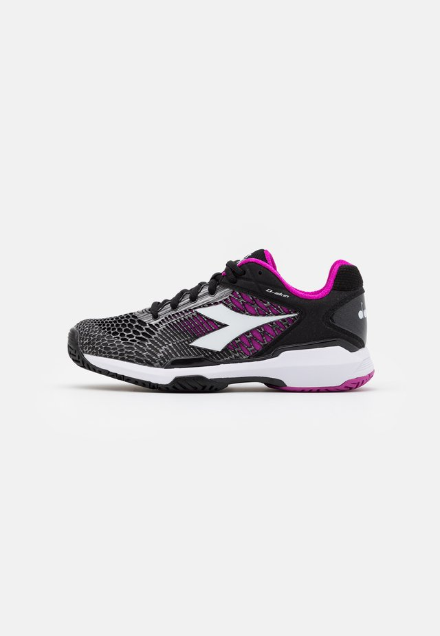 SPEED COMPETITION 5 + - Chaussures de tennis toutes surfaces - black/white/purple