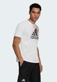 adidas Performance - PADEL GRAPHIC LOGO T-SHIRT - Print T-shirt - white - 5