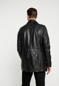 Serge Pariente - HARRY - Leren jas - black - 2