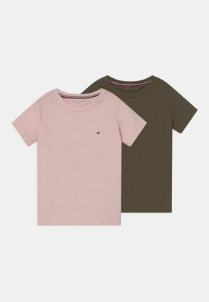 TEE 2 PACK  - T-shirt basic - army green/pale pink