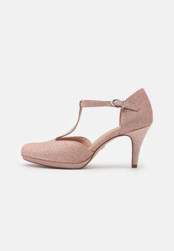 Platform heels - rose glam