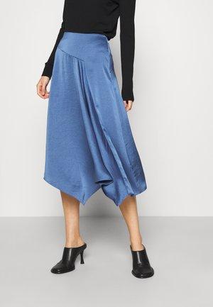ASYM DRAPE SKIRTCRUSH - A-line skirt - steel blue
