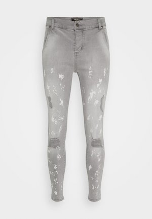 BLEACH SPLAT RIPPED KNEE - Jeans Skinny Fit - washed grey