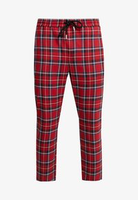 Only & Sons - ONSLINUS CROPPED CHECK PANT - Kangashousut - pompeian red - 4
