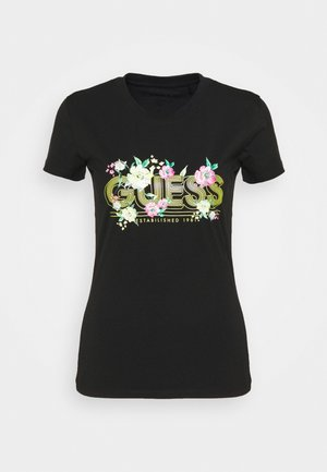 JANEL TEE - Print T-shirt - jet black