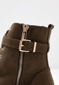 Dorothy Perkins - MANTA SIDE ZIP LACE UP - Platform ankle boots - khaki - 2