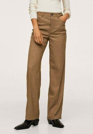 Trousers - marron moyen