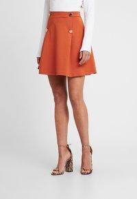 Even&Odd Petite - A-line skirt - brown - 0