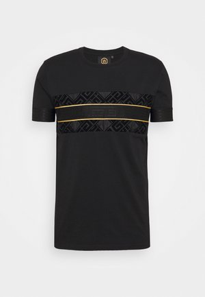 BARCO TEE - Print T-shirt - black/gold