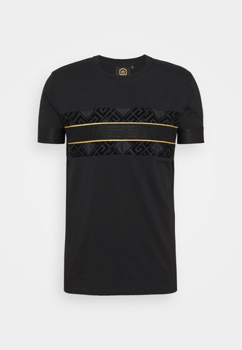BARCO TEE - T-shirt con stampa - black/gold