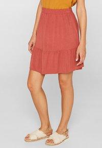 edc by Esprit - A-line skirt - terracotta - 0