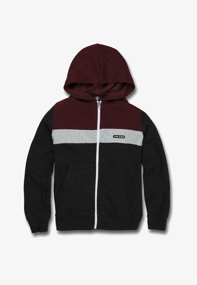 Zip-up hoodie - port
