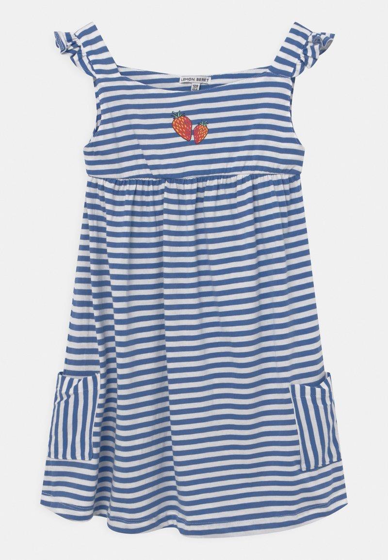 Lemon Beret - GIRLS  - Jersey dress - blue yonder