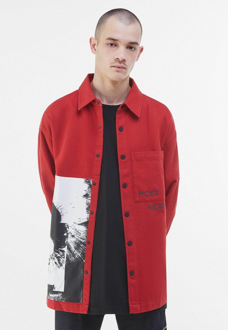 Bershka - Summer jacket - red