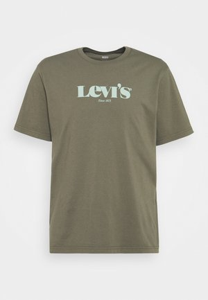 RELAXED FIT TEE - Print T-shirt - dusty olive