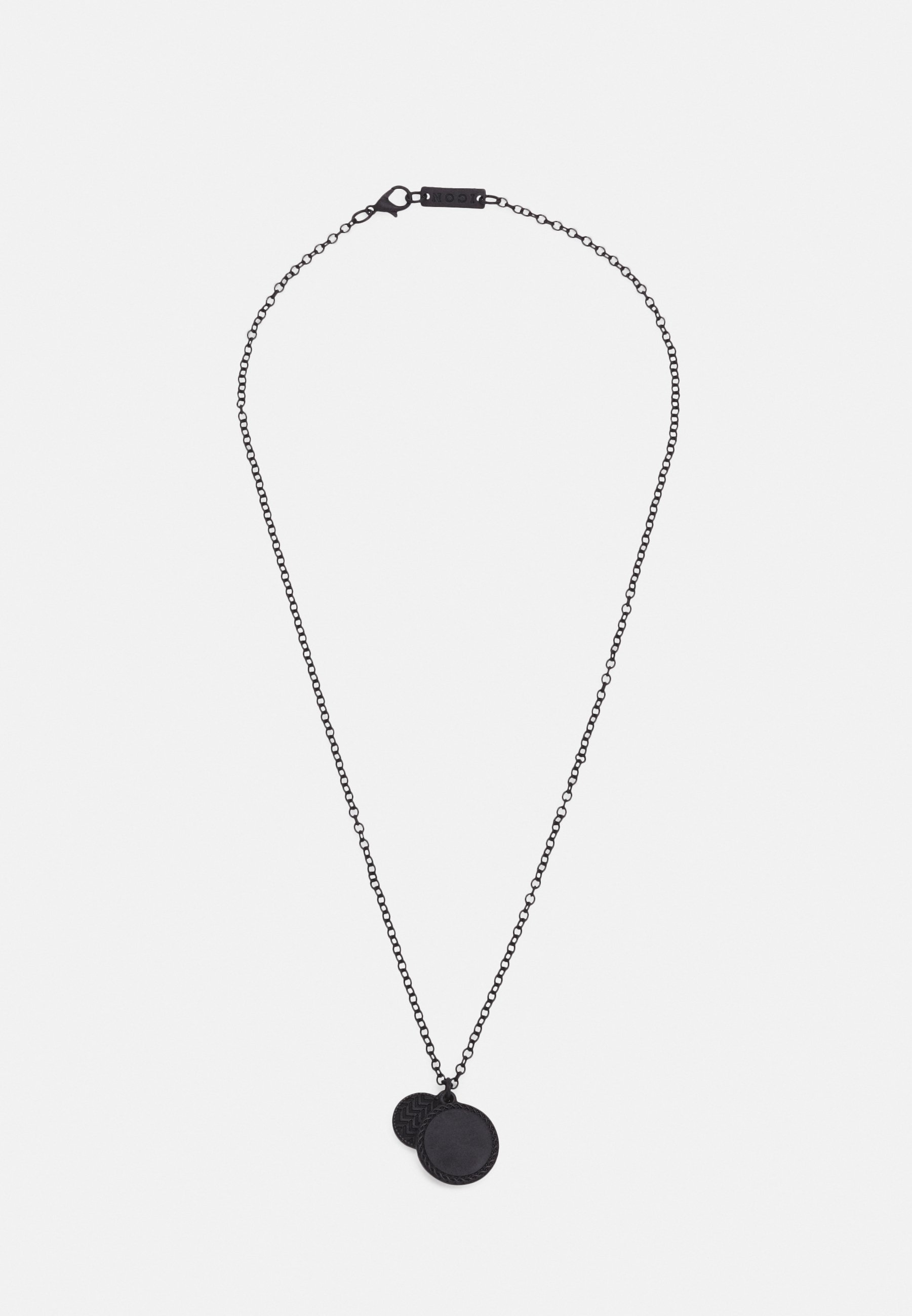 Homme DOUBLE PATTERNED COIN NECKLACE - Collier