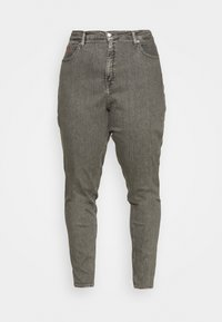 HIGH RISE STRAIGHT - Jeans Tapered Fit - grey