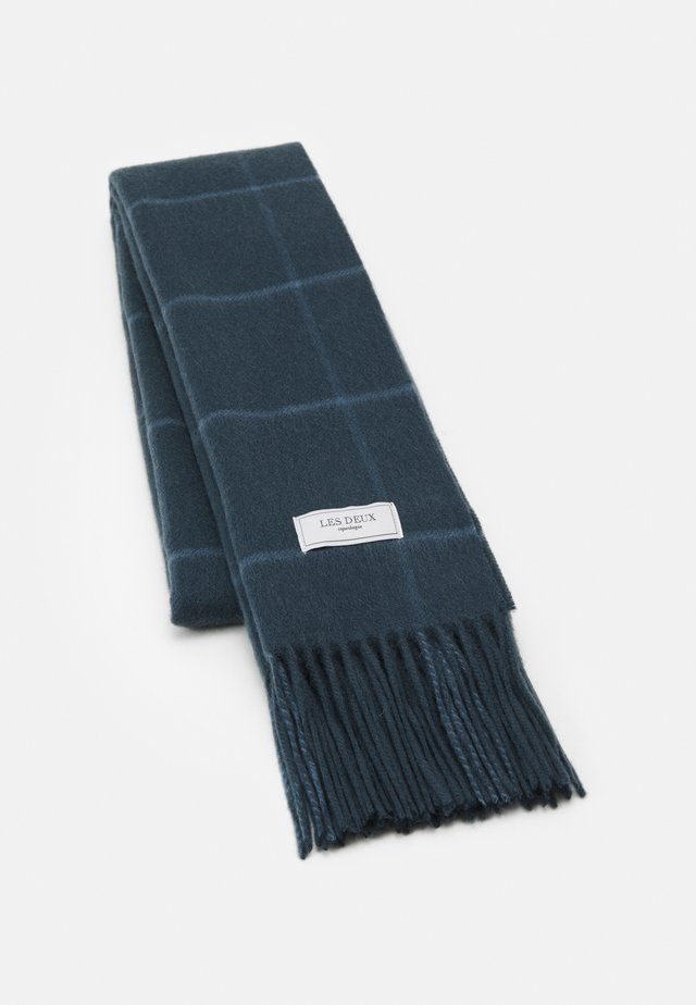 LES DEUX CHECK SCARF - Sjaal - blue fog/blue mirage