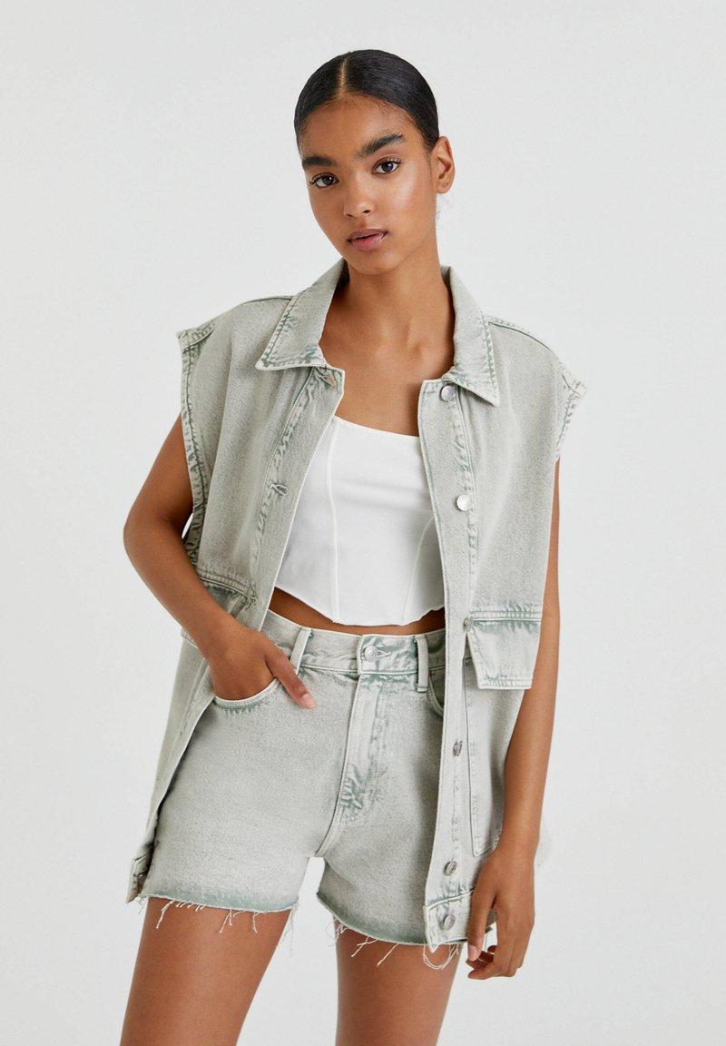 PULL&BEAR - Denim shorts - grey denim