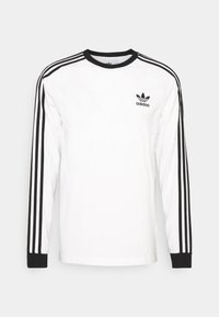 adidas Originals - ADICOLOR CLASSICS 3-STRIPES LONG SLEEVE TEE - Pitkähihainen paita - white - 0