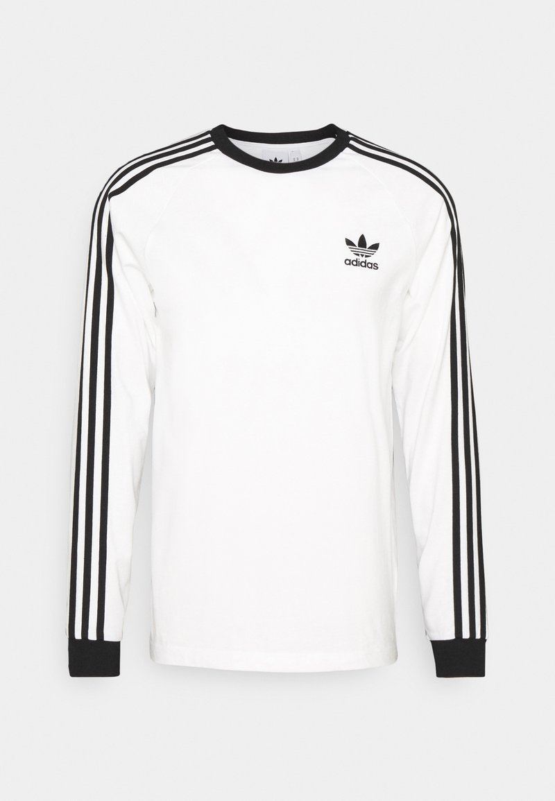 adidas Originals - ADICOLOR CLASSICS 3-STRIPES LONG SLEEVE TEE - Pitkähihainen paita - white