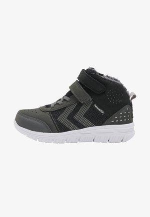 WINTER MID TEX JR - High-top trainers - asphalt/black