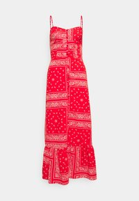 Never Fully Dressed - RED BANDANA DRESS - Maxi dress - red - 4